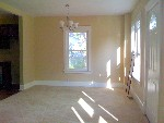 Large, bright, and open living room / dining room